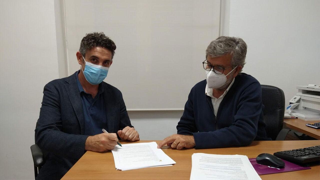 Alex Manzanera, gerent al Club Tennis d'Aro i Juan Ortega, director general a la Clínica Bofill
